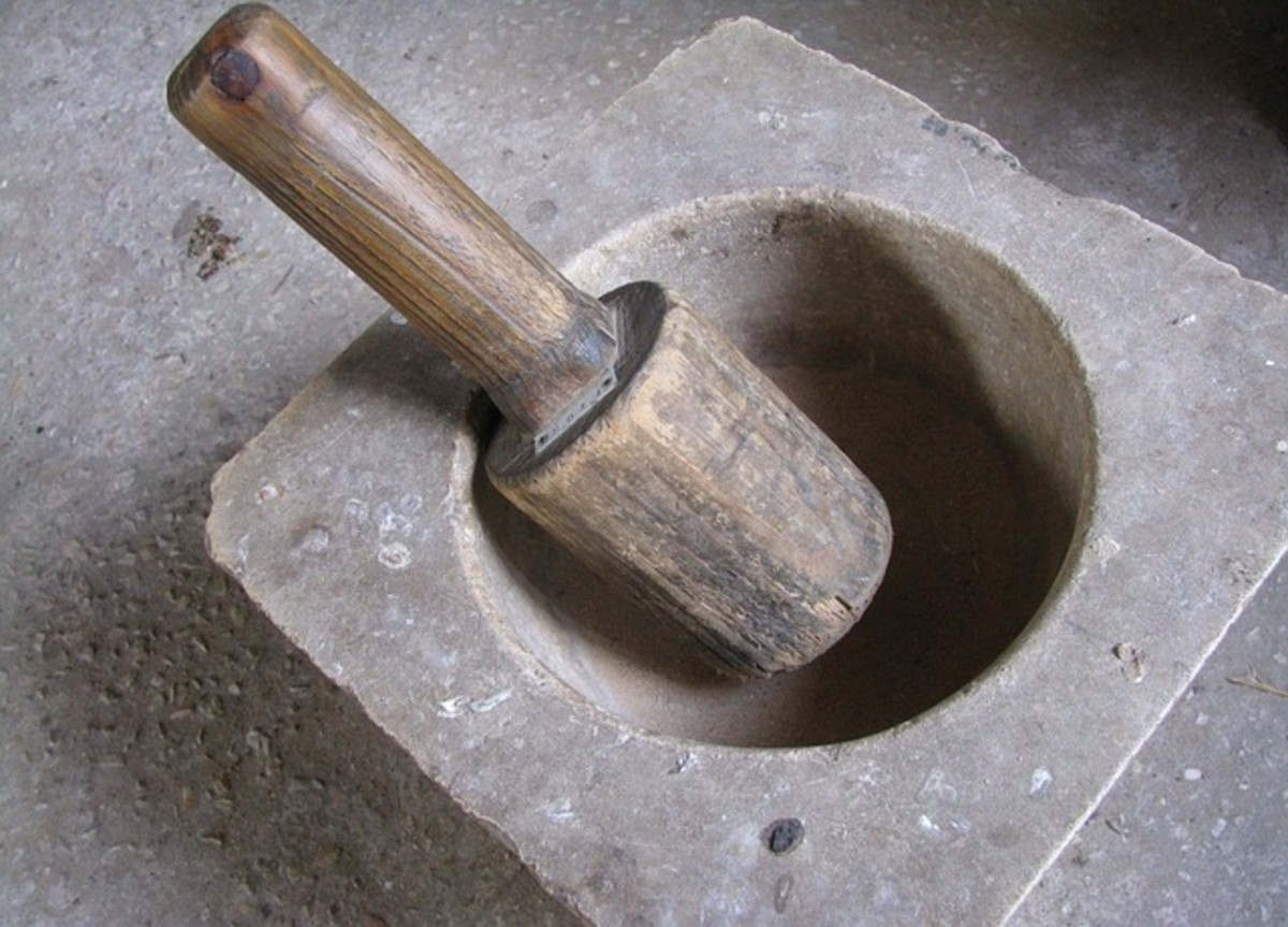 A mortar and pestle are very hand kitchen tools!