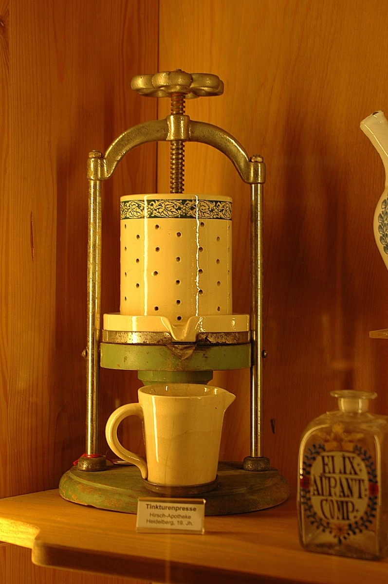 An old tincture press! How handy that would be for medicinal uses! Do you have one?