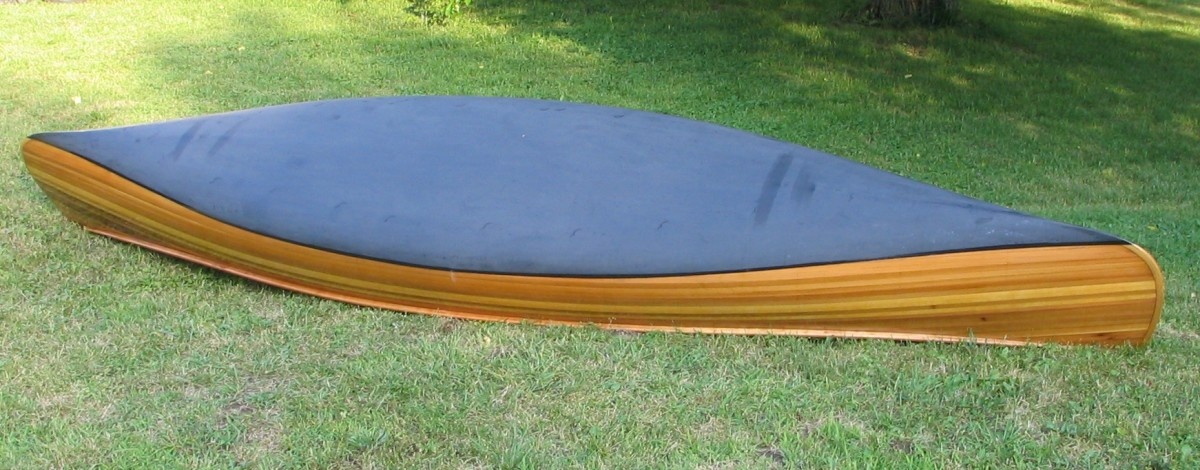 Building a Cedar Strip Canoe, the Details: Applying a Graphite Bottom Coating