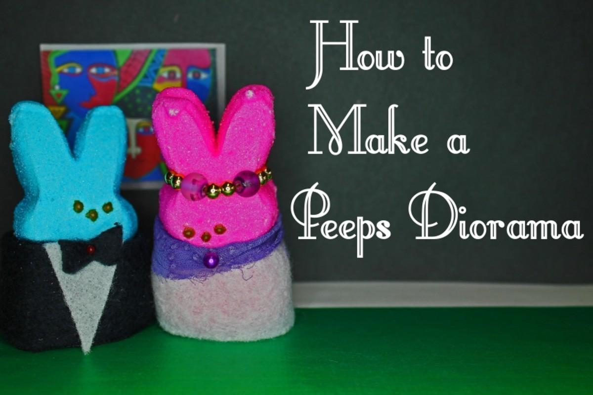 How to make a Peeps diorama