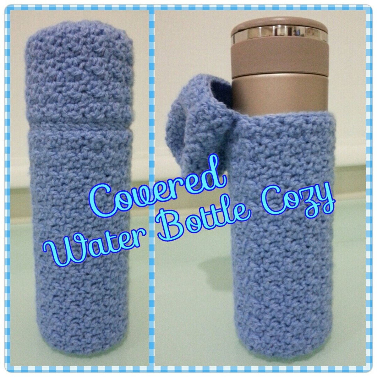 How to Crochet a Covered Water Bottle Cozy: Free Crochet Pattern ...