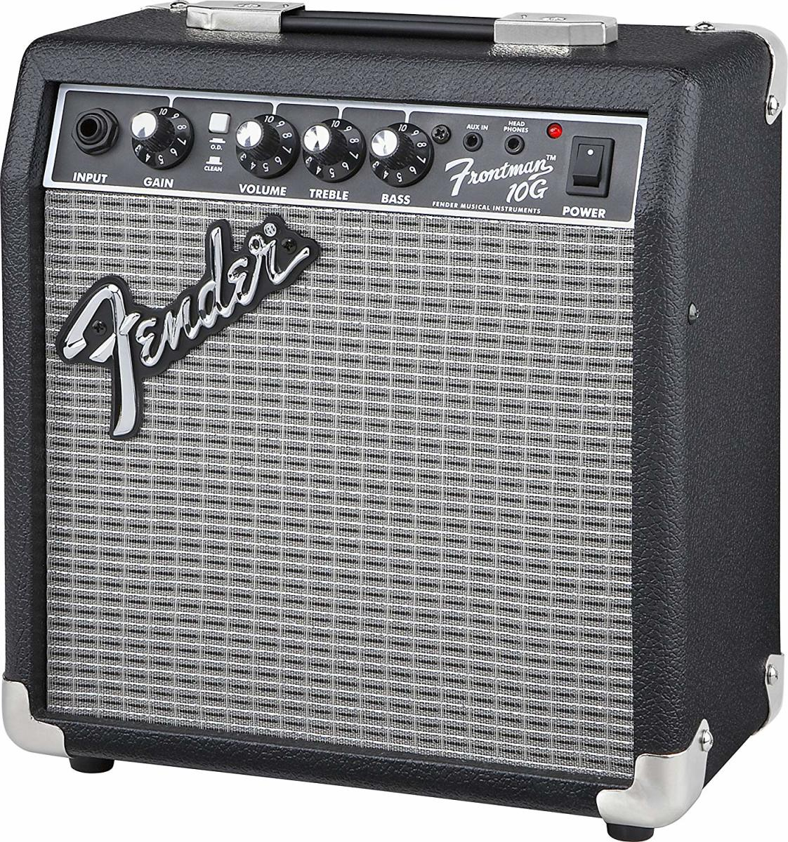 The Fender Frontman 10 is one of the best guitar amps for beginners with a budget under $100.