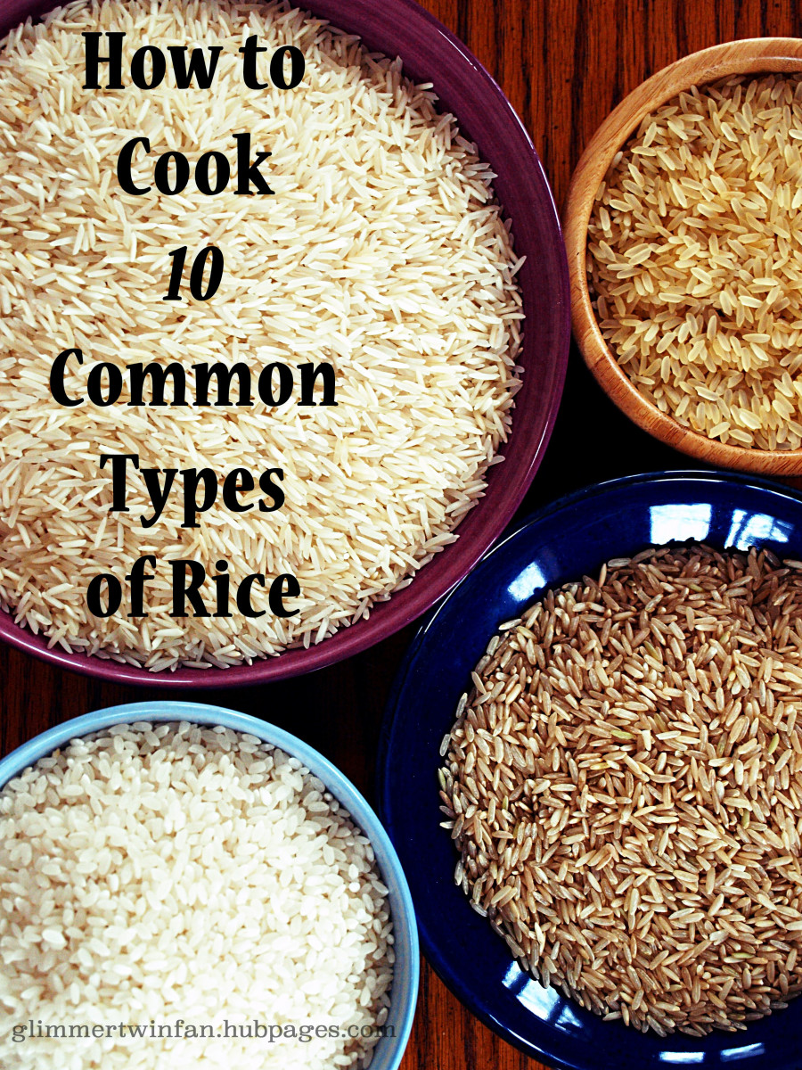 Discover how to cook 10 kinds of rice, from  arborio rice to wild rice.