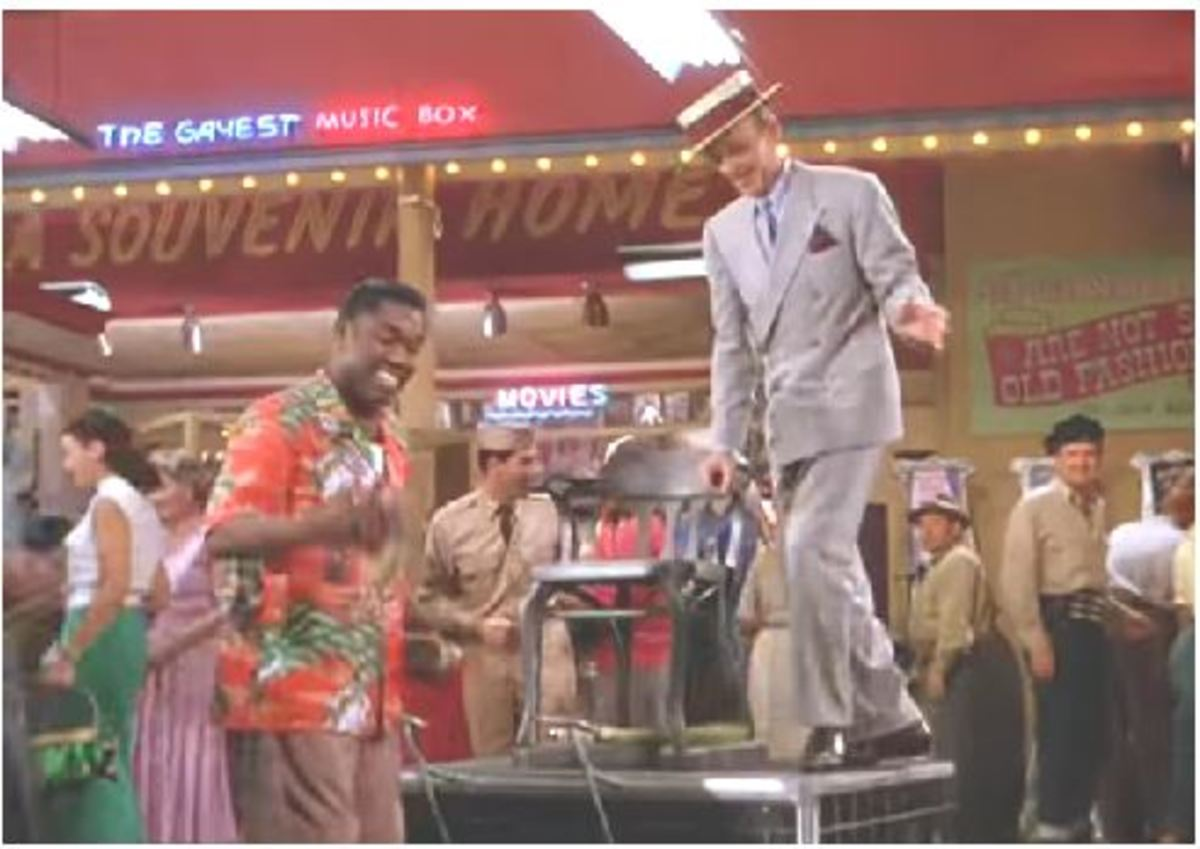 Shoeshine man Leroy Daniels dancing with Fred Astaire