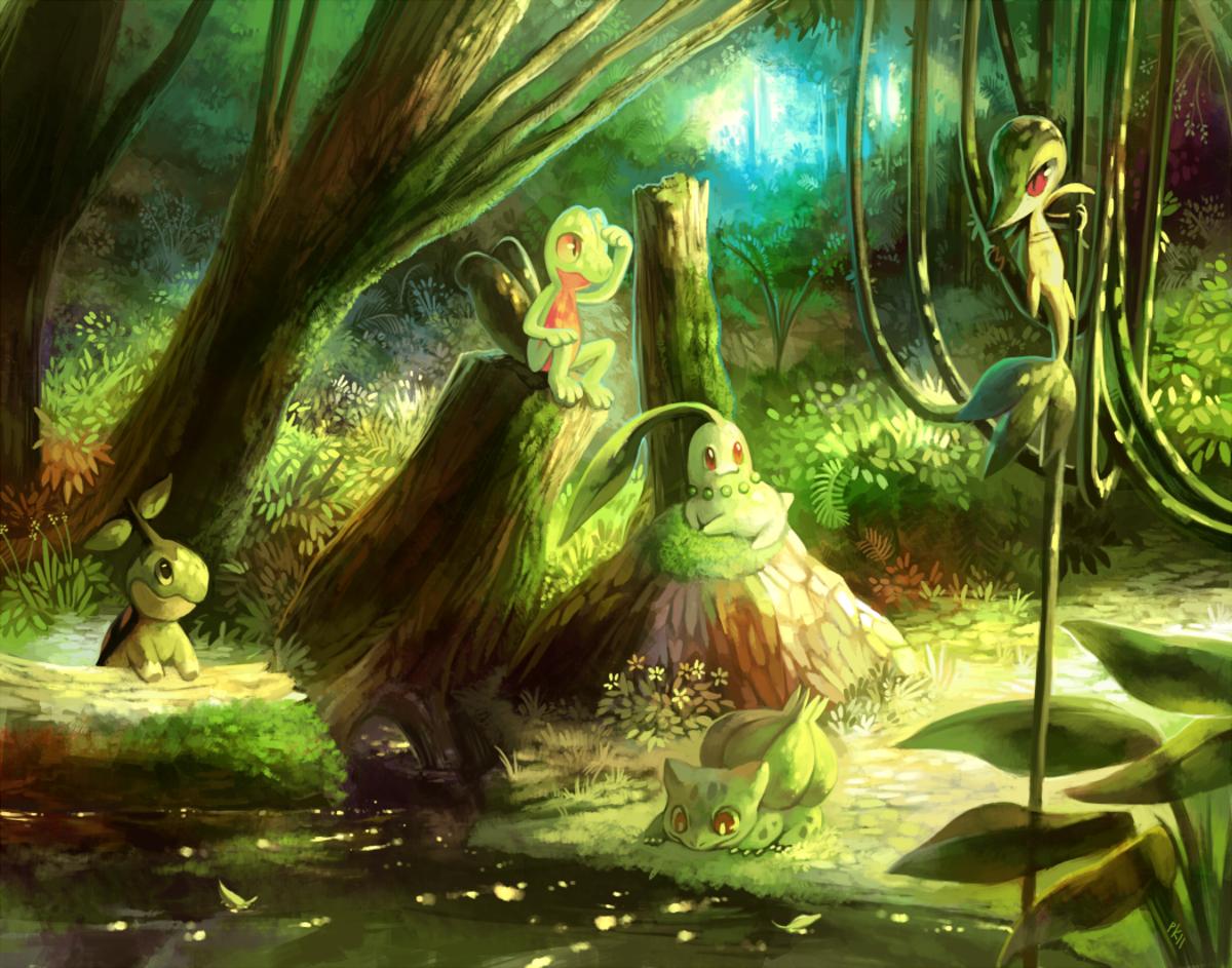 Several Grass-type starting Pokemon
