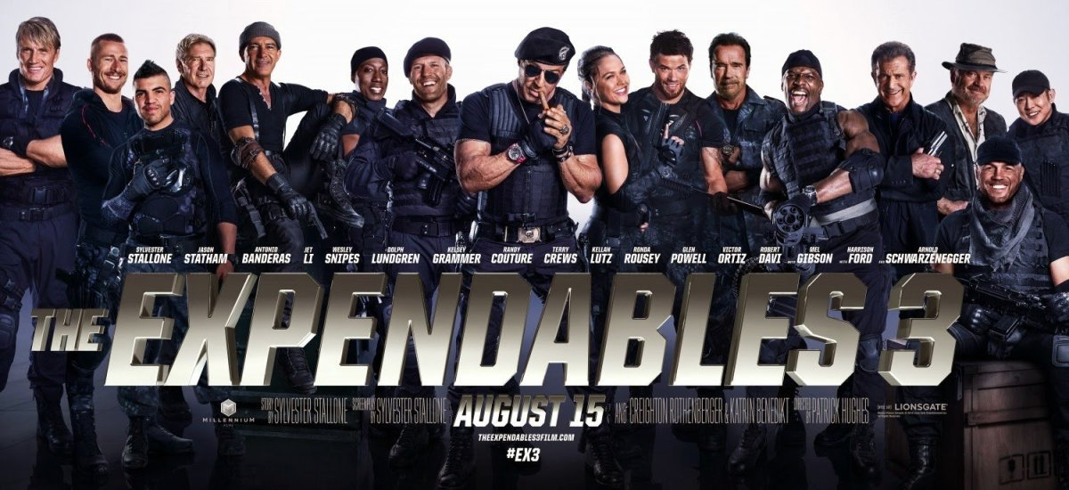 """Banner for """"The Expendables 3"""""""