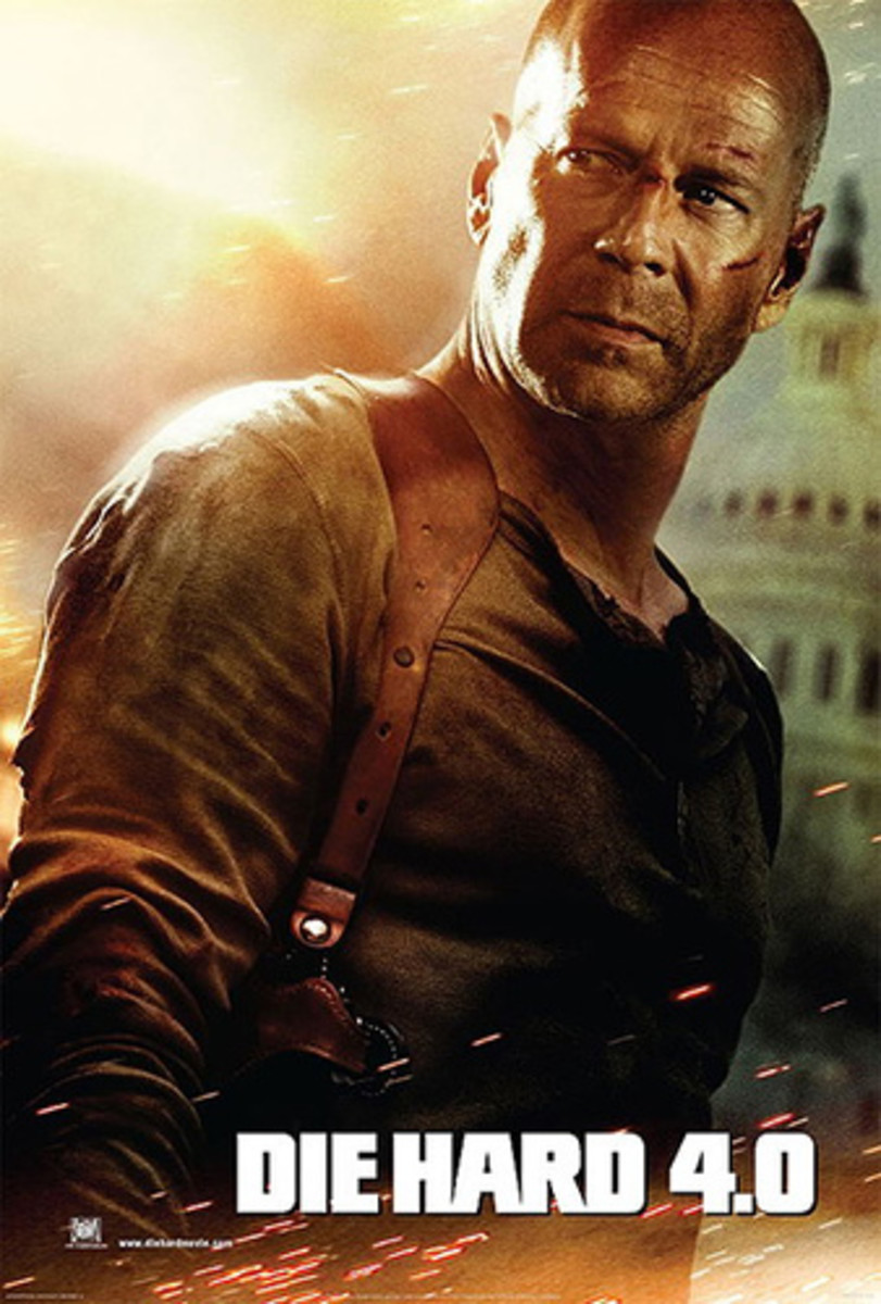 Promotional poster for the film, known as 'Die Hard 4.0' in the US