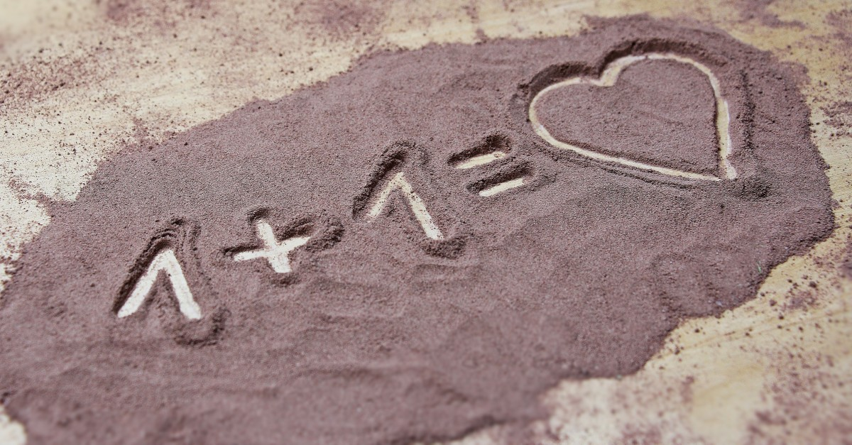 1 plus 1 equals love