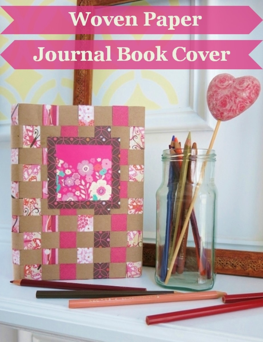 DIY Craft Tutorial:  How to Make a Woven Paper Journal or Sketchbook Cover