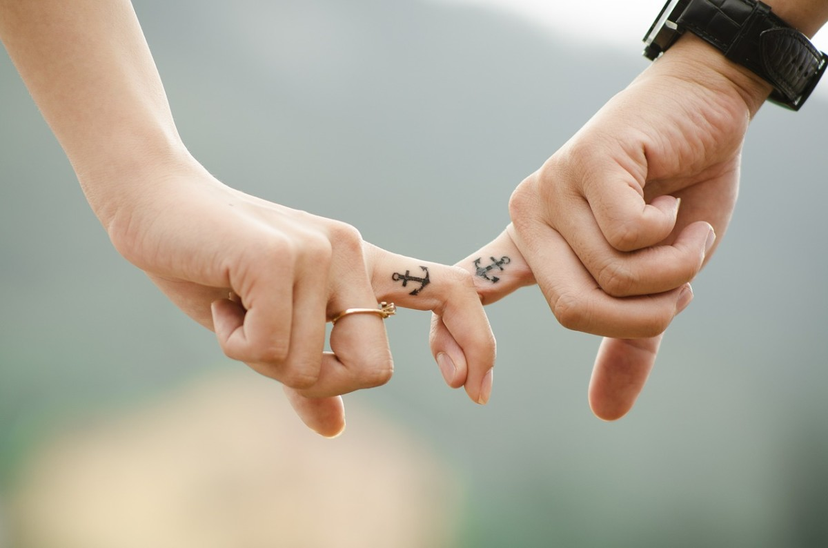 Is getting matching tattoos the sign of a strong relationship?