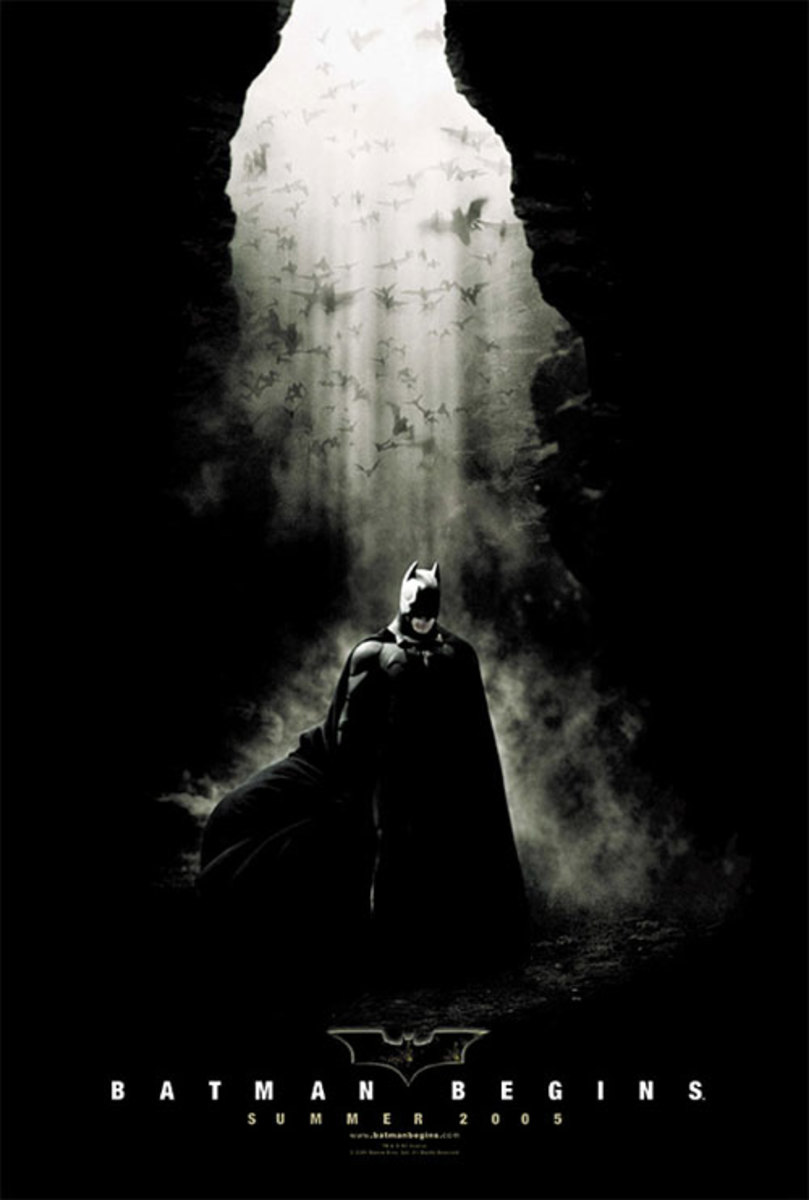 """Promotional poster for """"Batman Begins"""""""