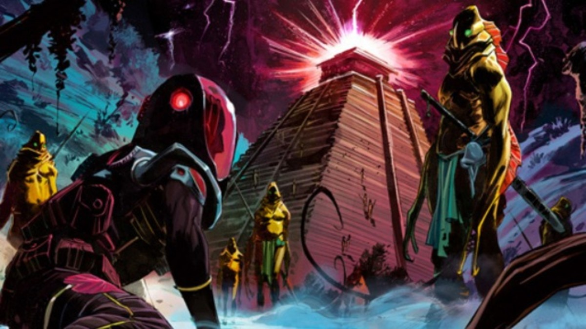 Sample panel of Scalera's artwork in Black Science