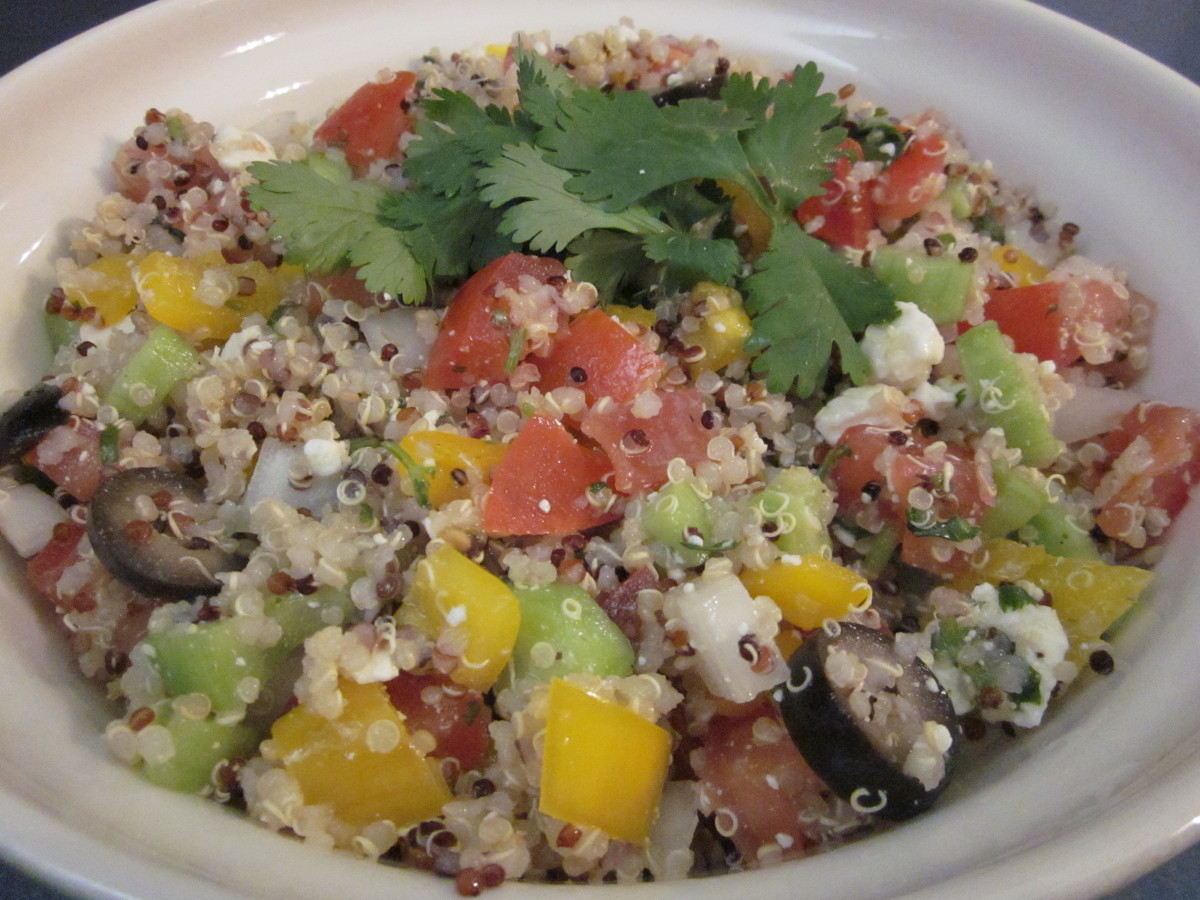 Quinoa Salad with Cilantro-Lime Dressing