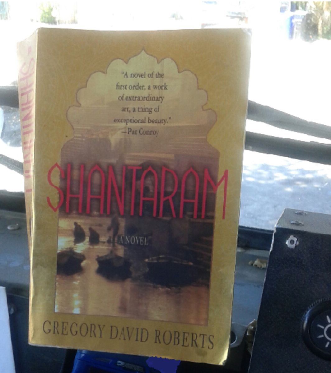 Join Mel for lunch beneath his favorite tree with the novel Shantaram by Gregory David Roberts