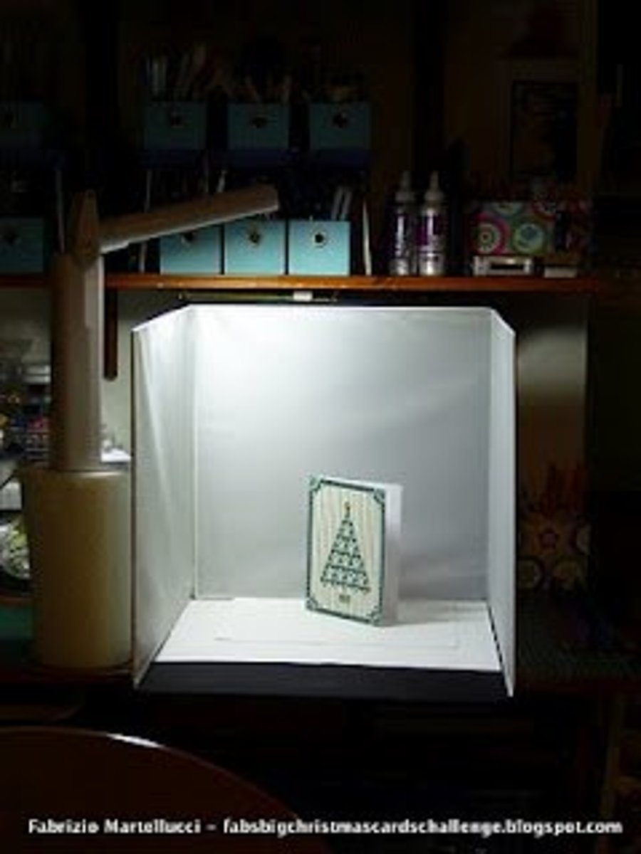 This is my lightbox setup for photographing cards