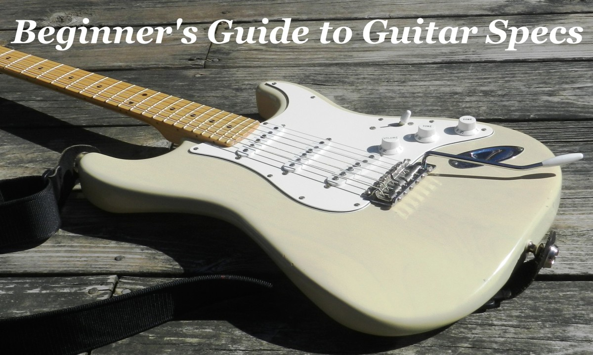 A guide to help beginners understand the terms and definitions used on guitar specs sheets.