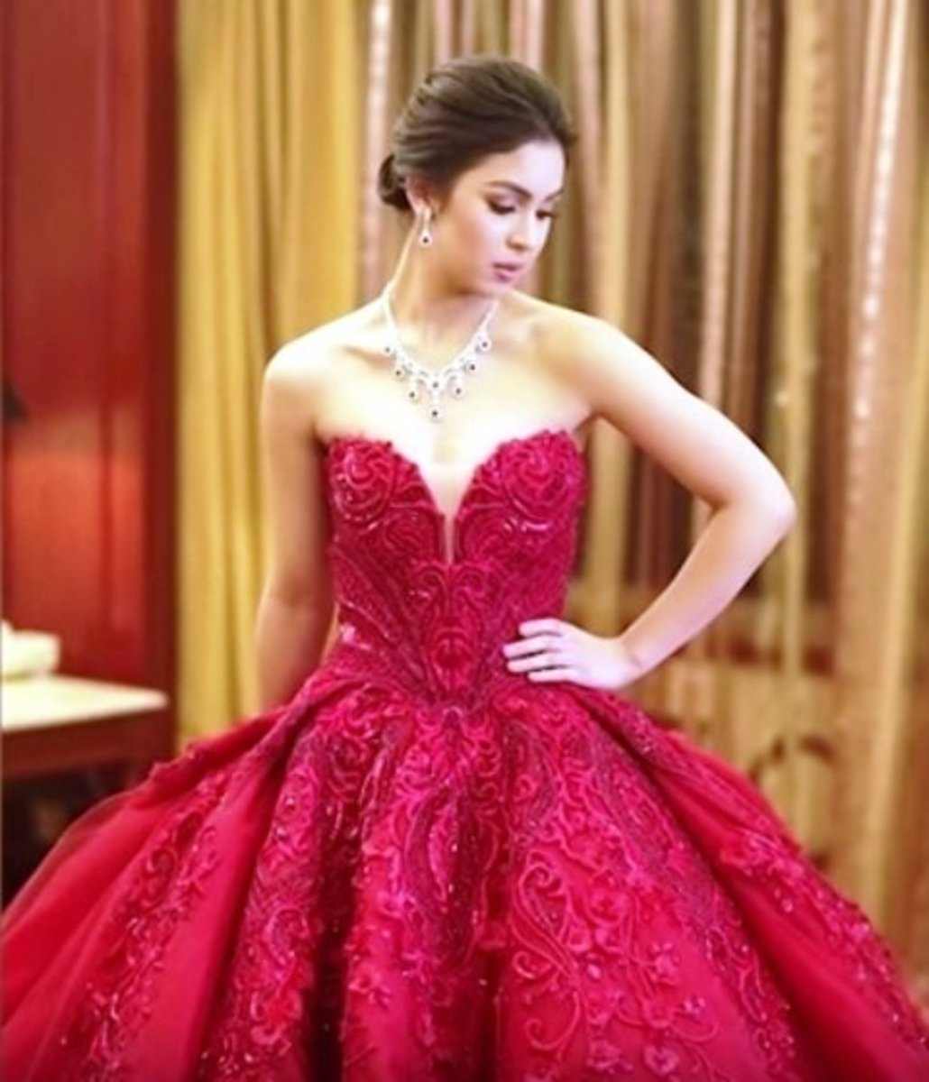 Julia Barretto @ 18 debut gown.