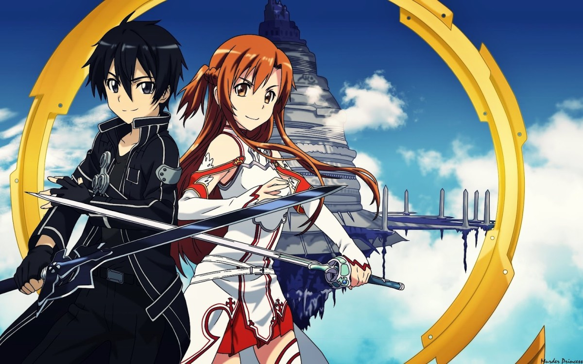Protagonists Kirito and Asuna. Today's images courtesy of swordartonline.wikia.com