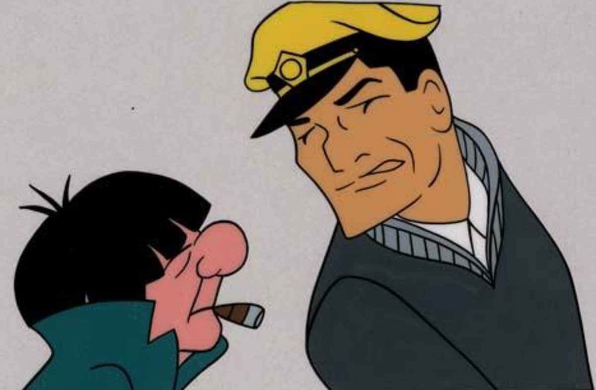 Animation cels of Magoo and Dick Tracy