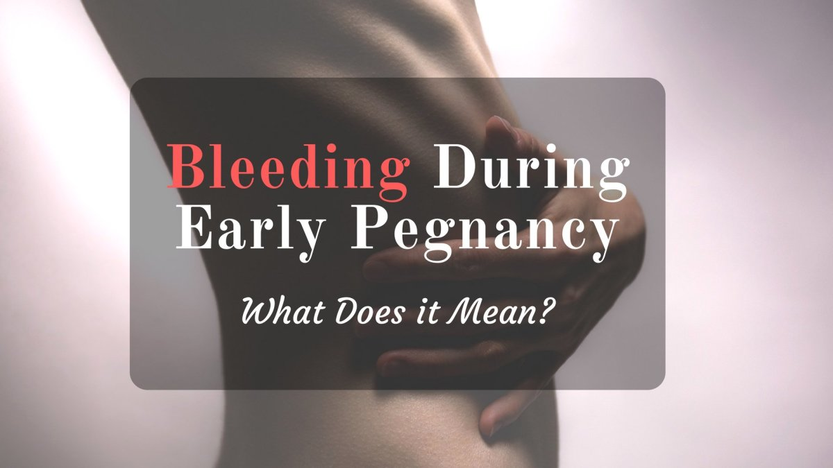 What Does Spotting or Bleeding in Early Pregnancy Mean ...