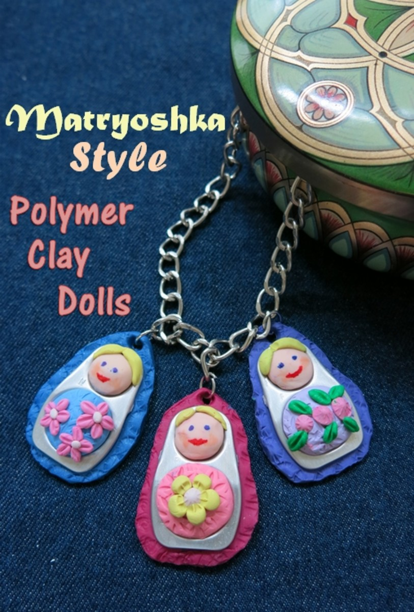 DIY Craft Tutorial:  How to Make a Matryoshka Style Polymer Clay Doll