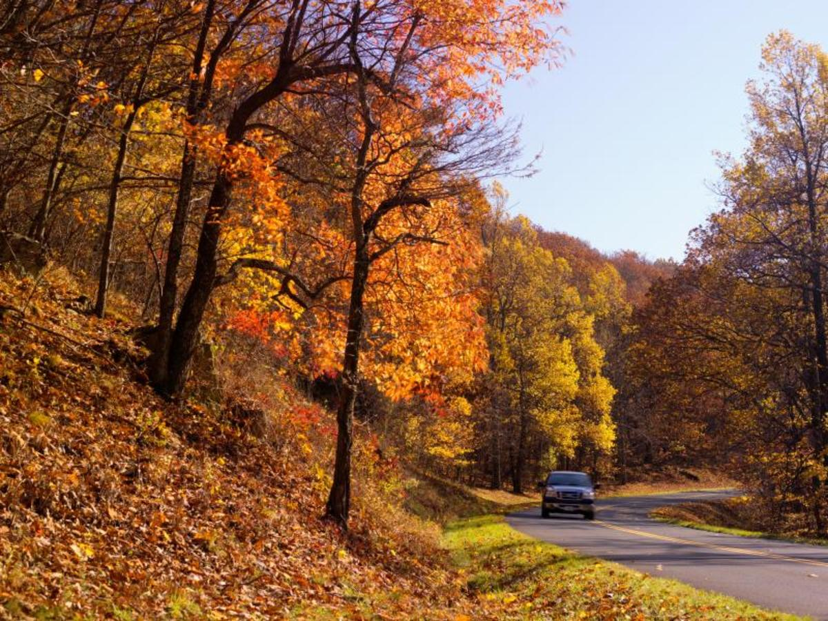 Leisurely Drive on the Blue Ridge Parkway in Virginia