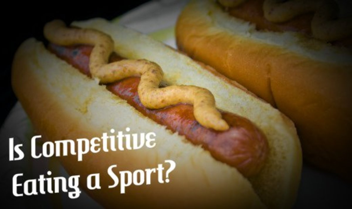 In Nathan's Hot Dog Eating Contest, participants consume as many hot dogs and buns as possible in 10 minutes.