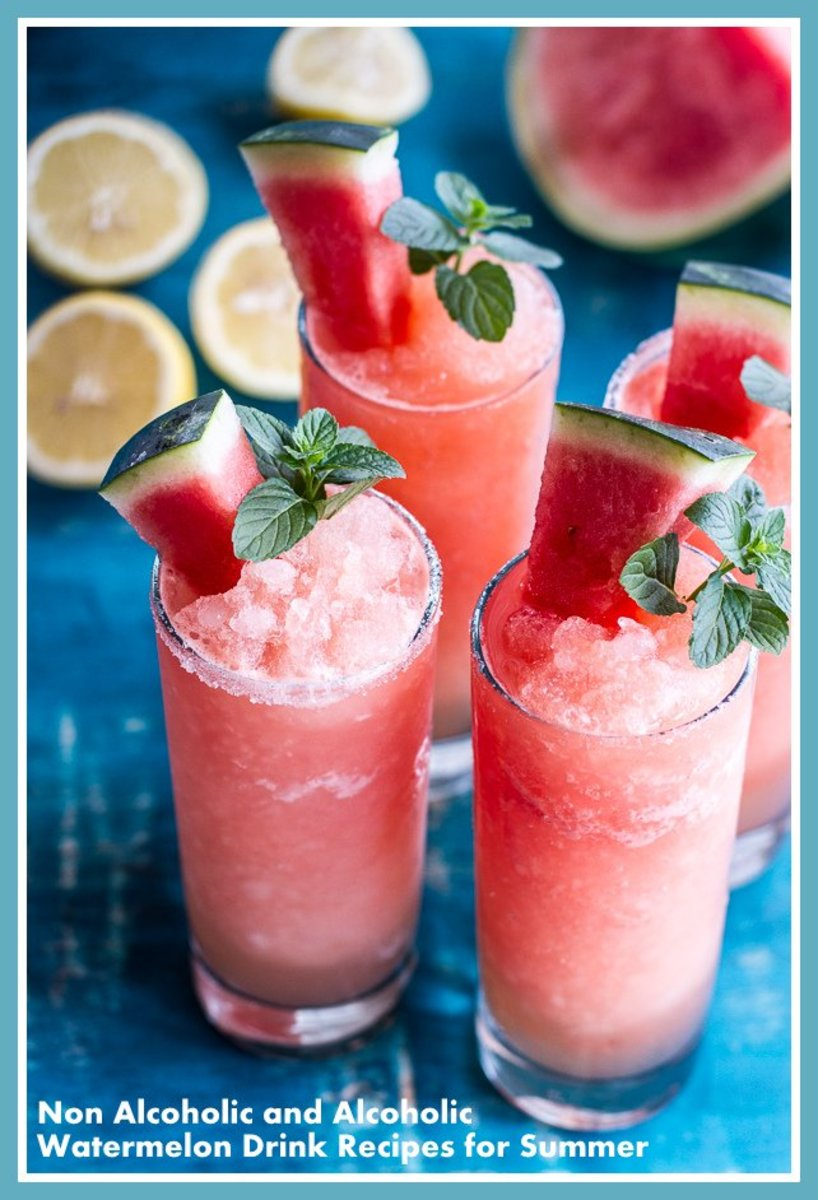 Non-Alcoholic and Alcoholic Watermelon Drink Recipes for Summer