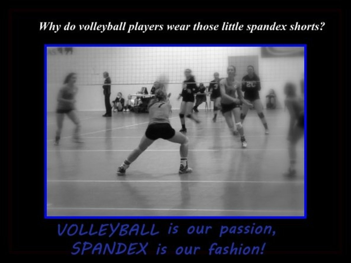 Many people want to know why volleyball spandex are so short and tight.
