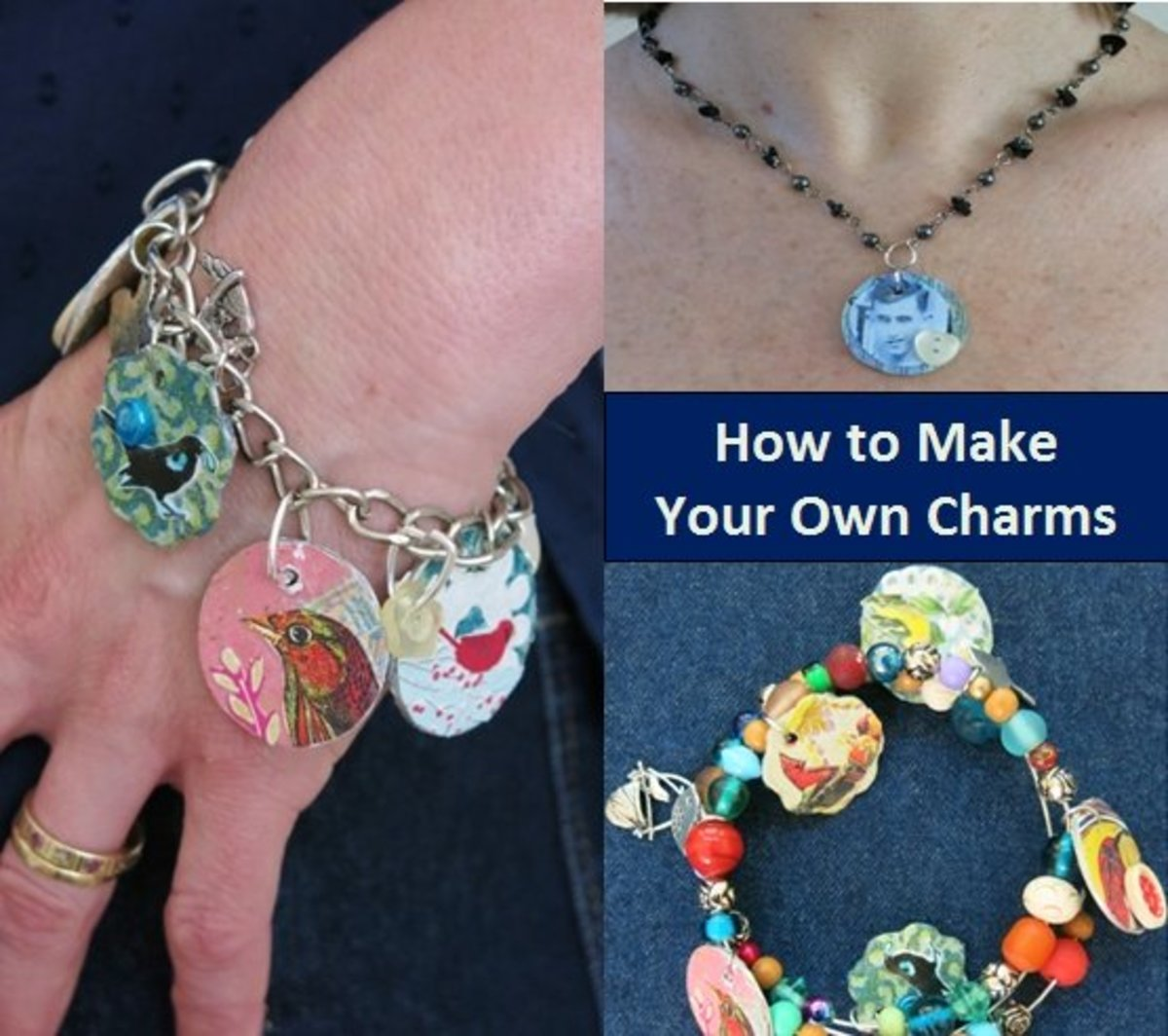 DIY Craft Tutorial:  How to Make Jewelry Charms from Recycled Materials