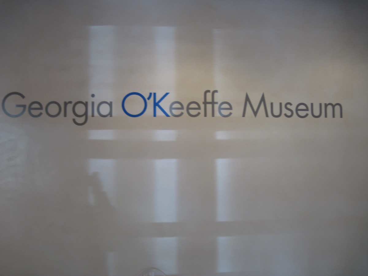 Sign At Front Of Georgia O'Keeffe Museum