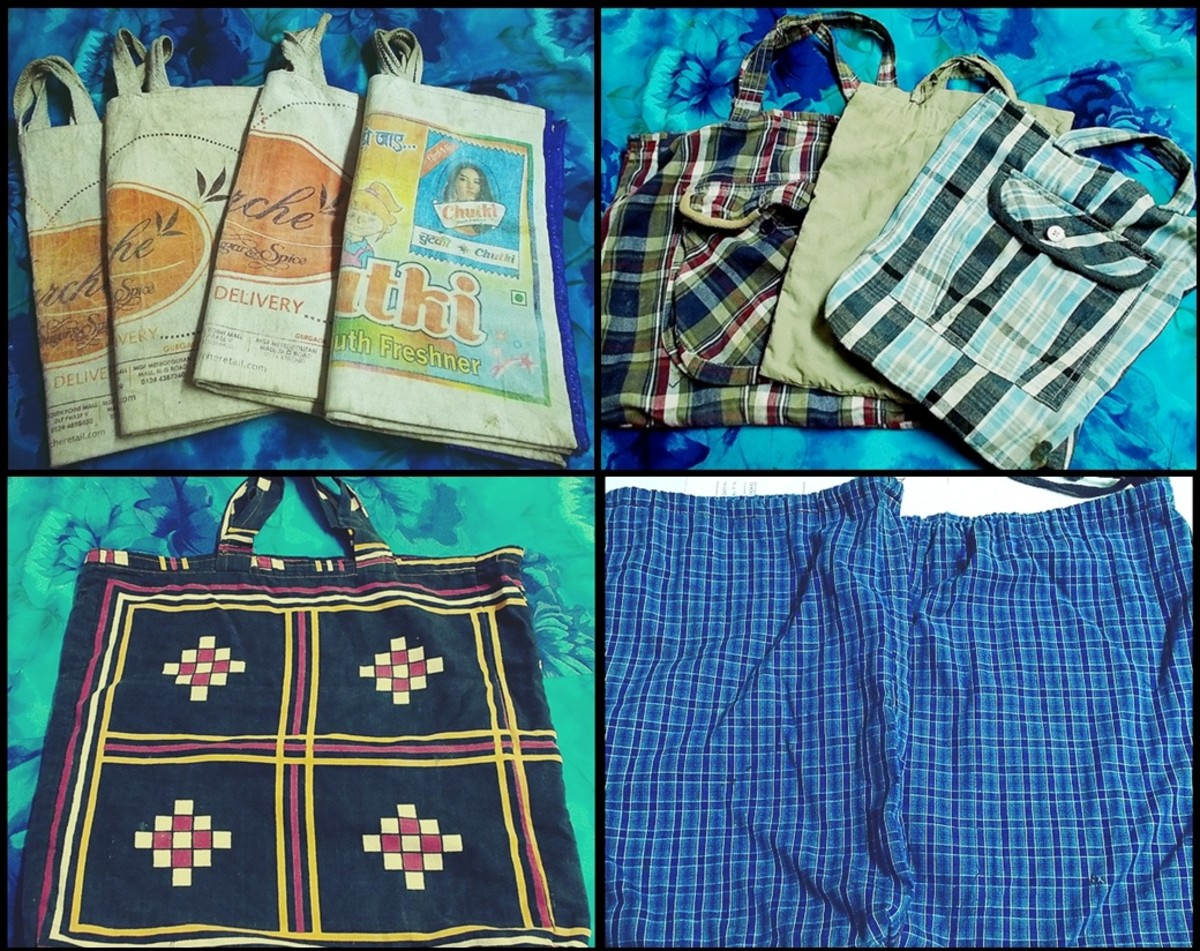~purchased & stitched cloth bags~