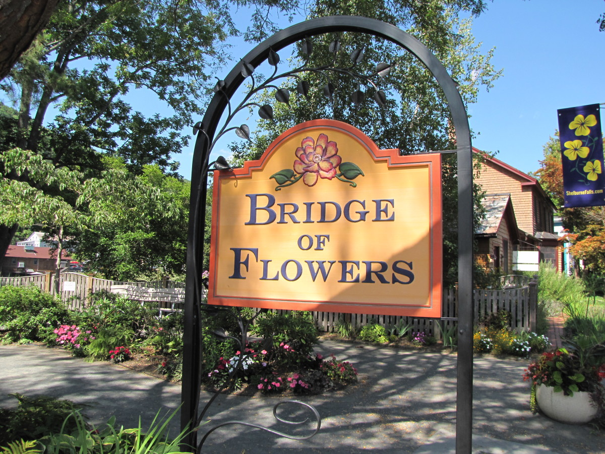 Visiting the Bridge of Flowers, Shelburne Falls, MA