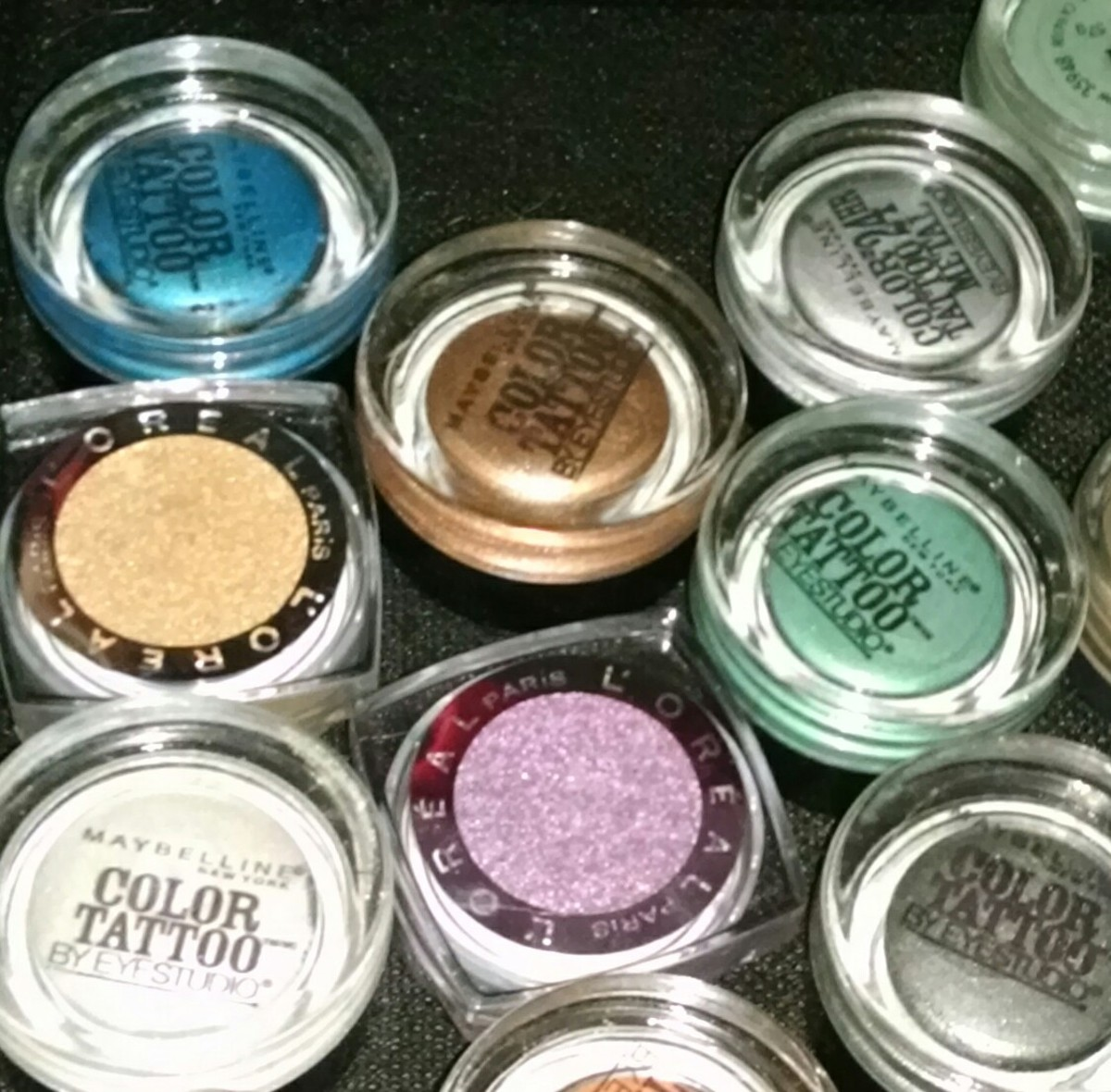 Maybelline Color Tattoo and L'Oreal Infallible Eye Shadow