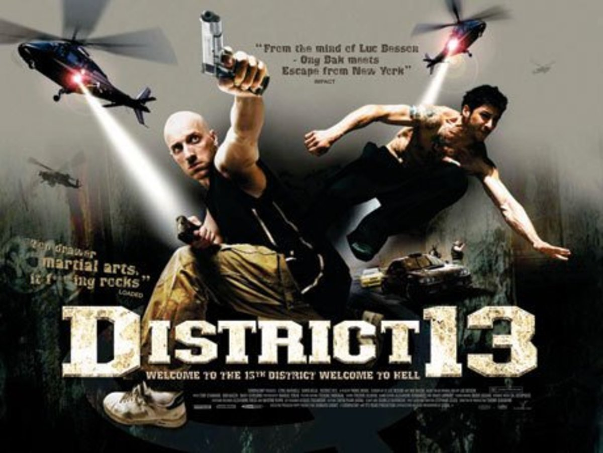 """English-language poster for """"District 13"""""""