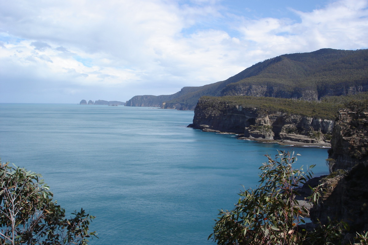 The unspoilt Tasmanian coastline