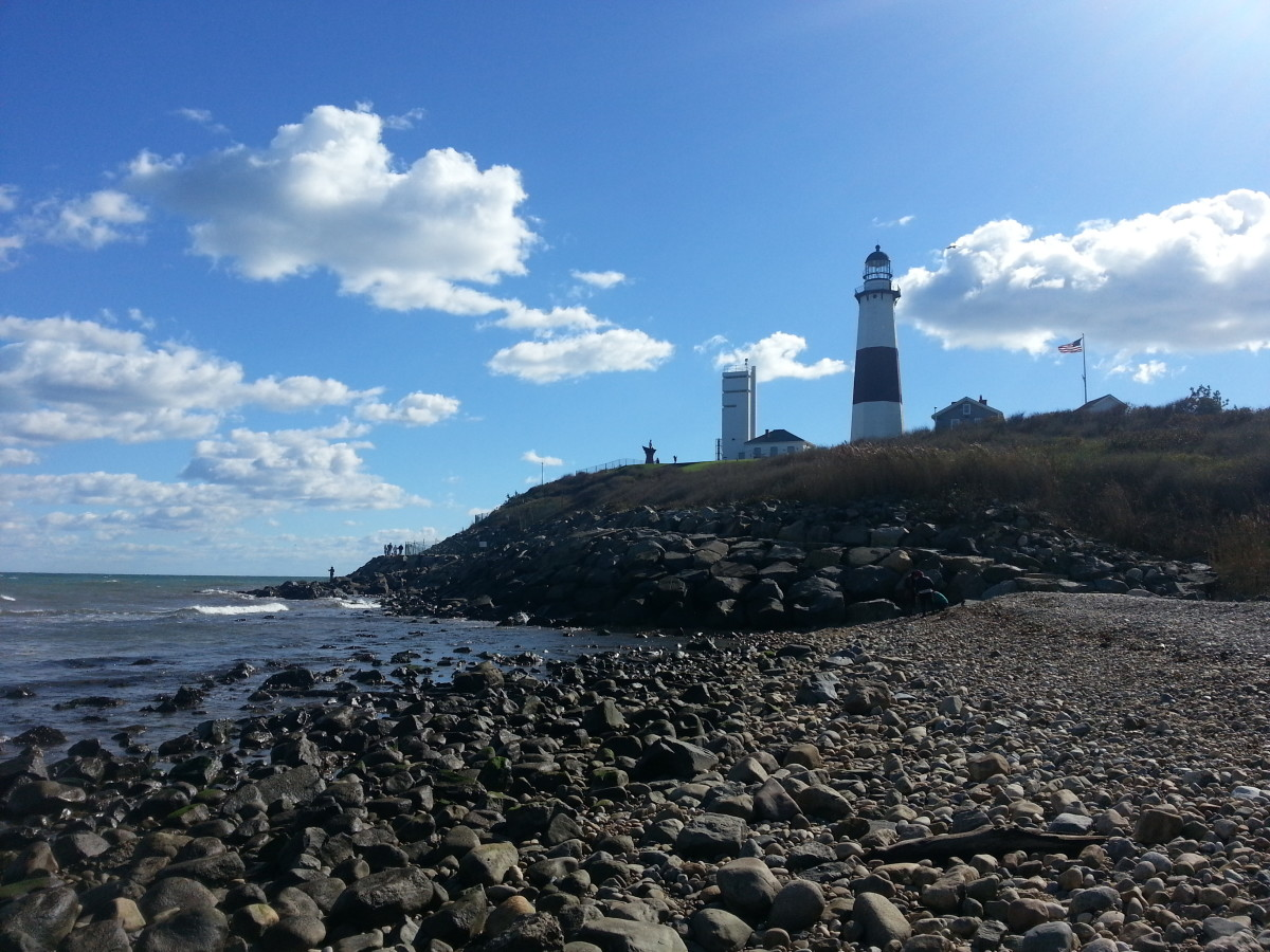Montauk Point Light sits on the easternmost point of Long Island