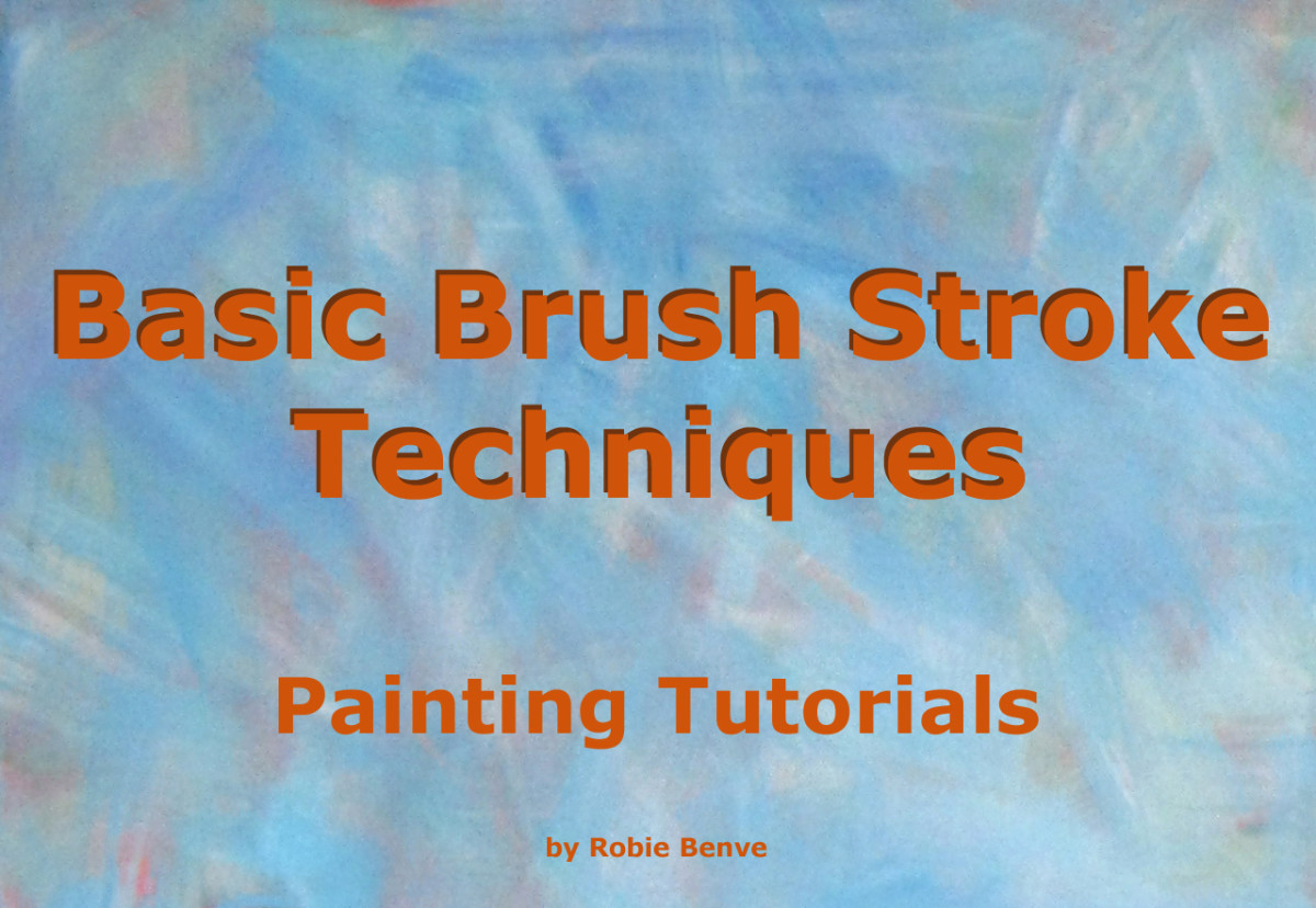 Brush Stroke Techniques for artists explained - article. Understanding brush strokes helps you paint more successfully.