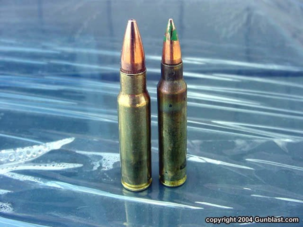 The 6.8mm (left) and the 5.56mm (right)