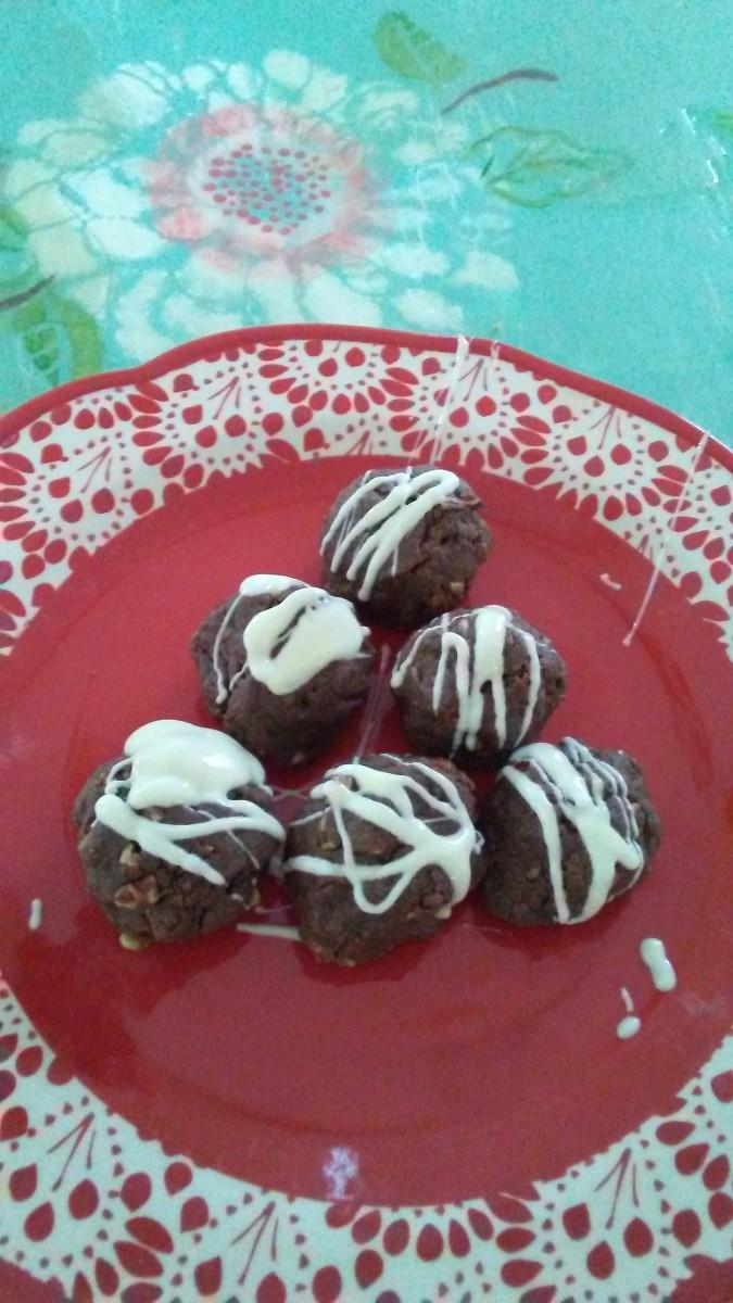 Each elegant fudgy bonbon contains a delicious surprise: a Hershey's kiss!