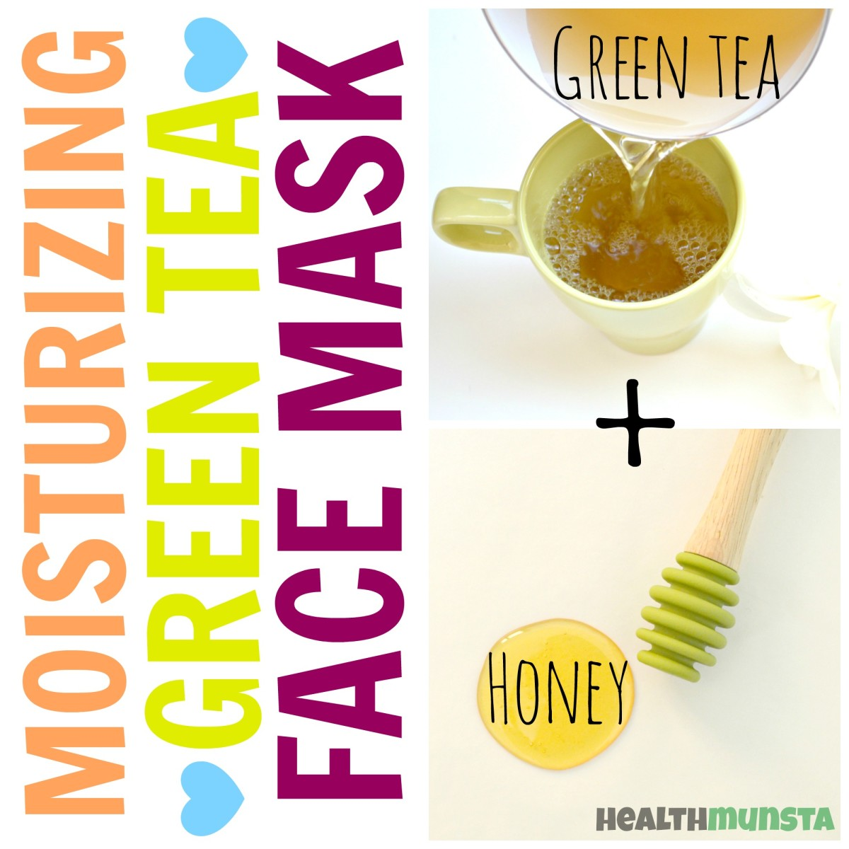 This moisturizing green tea and honey face mask is anti-oxidant rich and contains anti-aging and anti-inflammatory properties too!