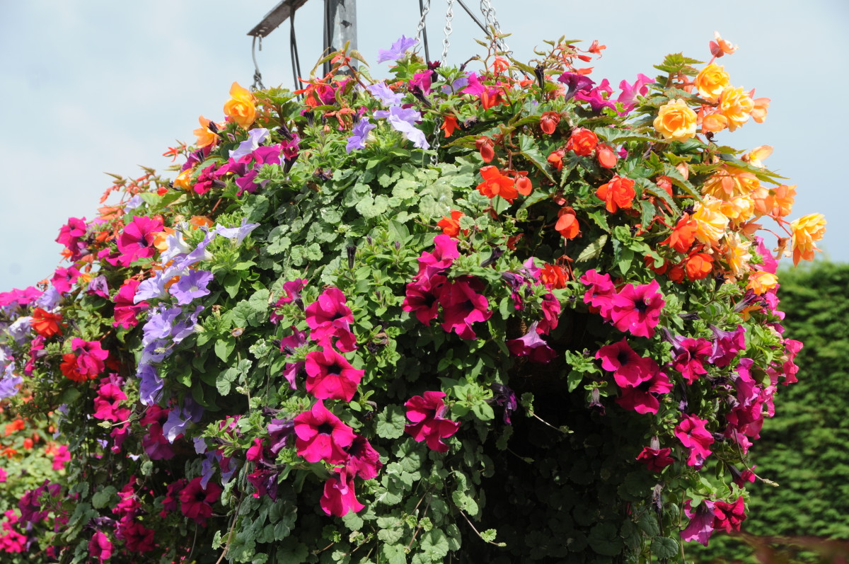 How to Make Hanging Basket Liners with Wool Sweaters