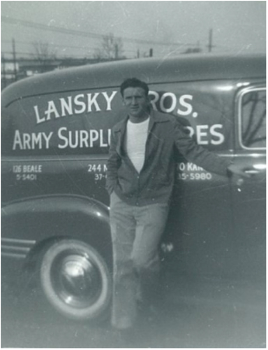 Bernard Lansky and his brother Guy began selling army surplus products in 1946 on Beale Street.