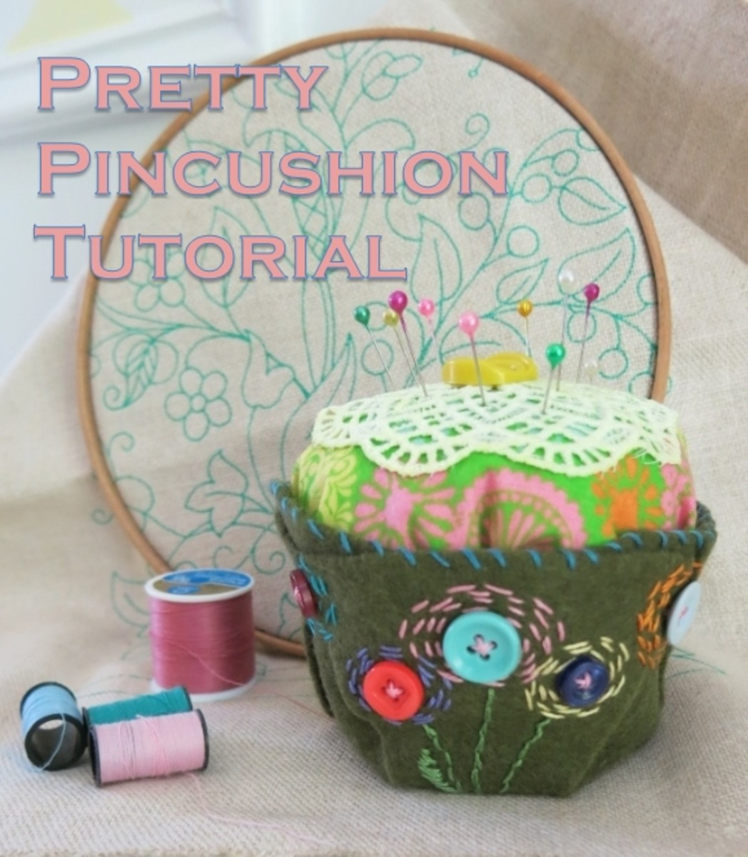 How to make a pretty embroidered and decorated pincushion