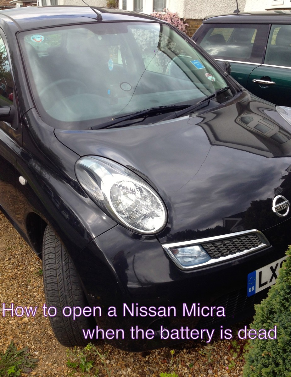How to Open the Door to a Nissan Micra When the Battery Is Dead, With Pictures