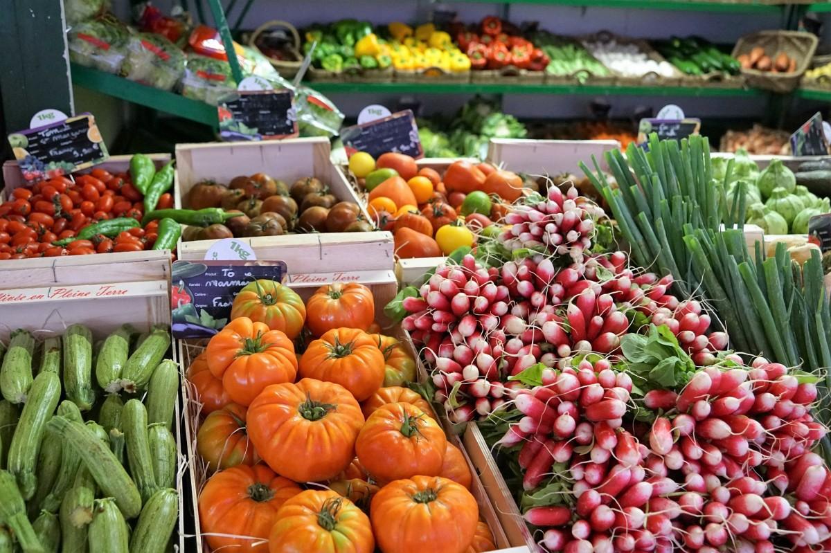Fresh produce at a local farmers' market