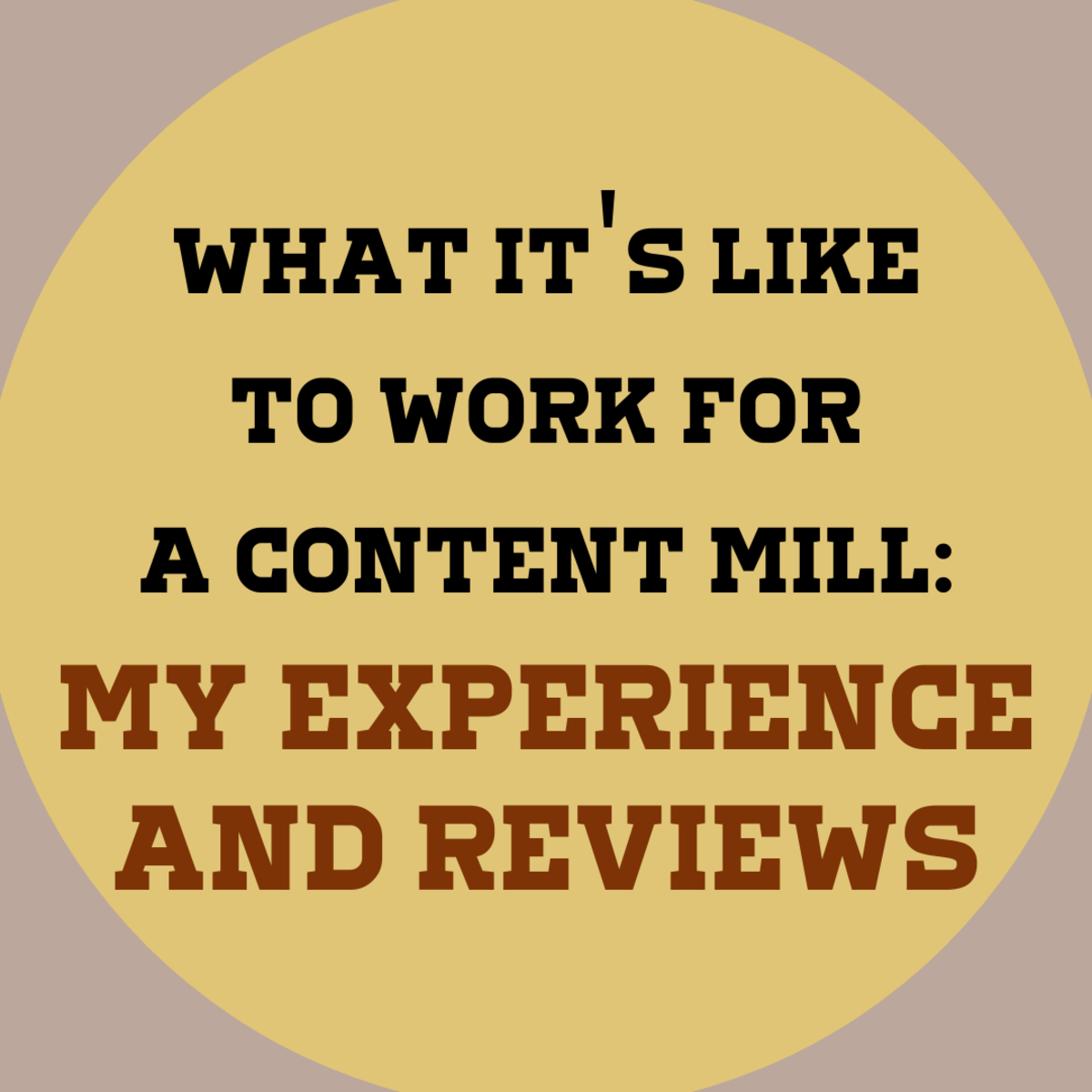 I review three content mill sites that I've written for and explore the pros and cons of each.