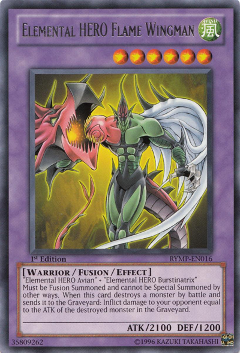 Jaden's famous Elemental HERO Flame Wingman