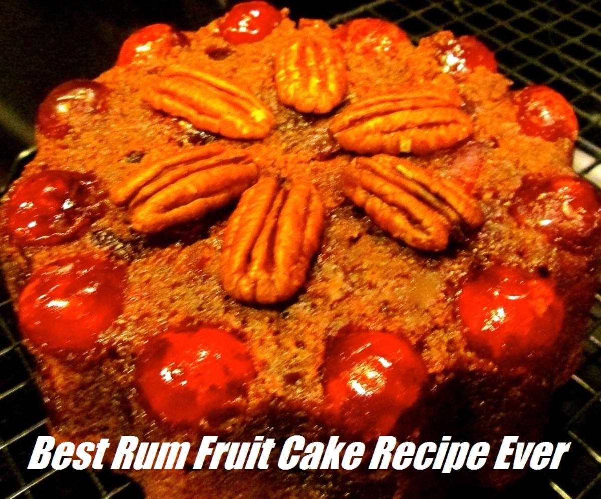 Rum soaked fruit cake recipe easy