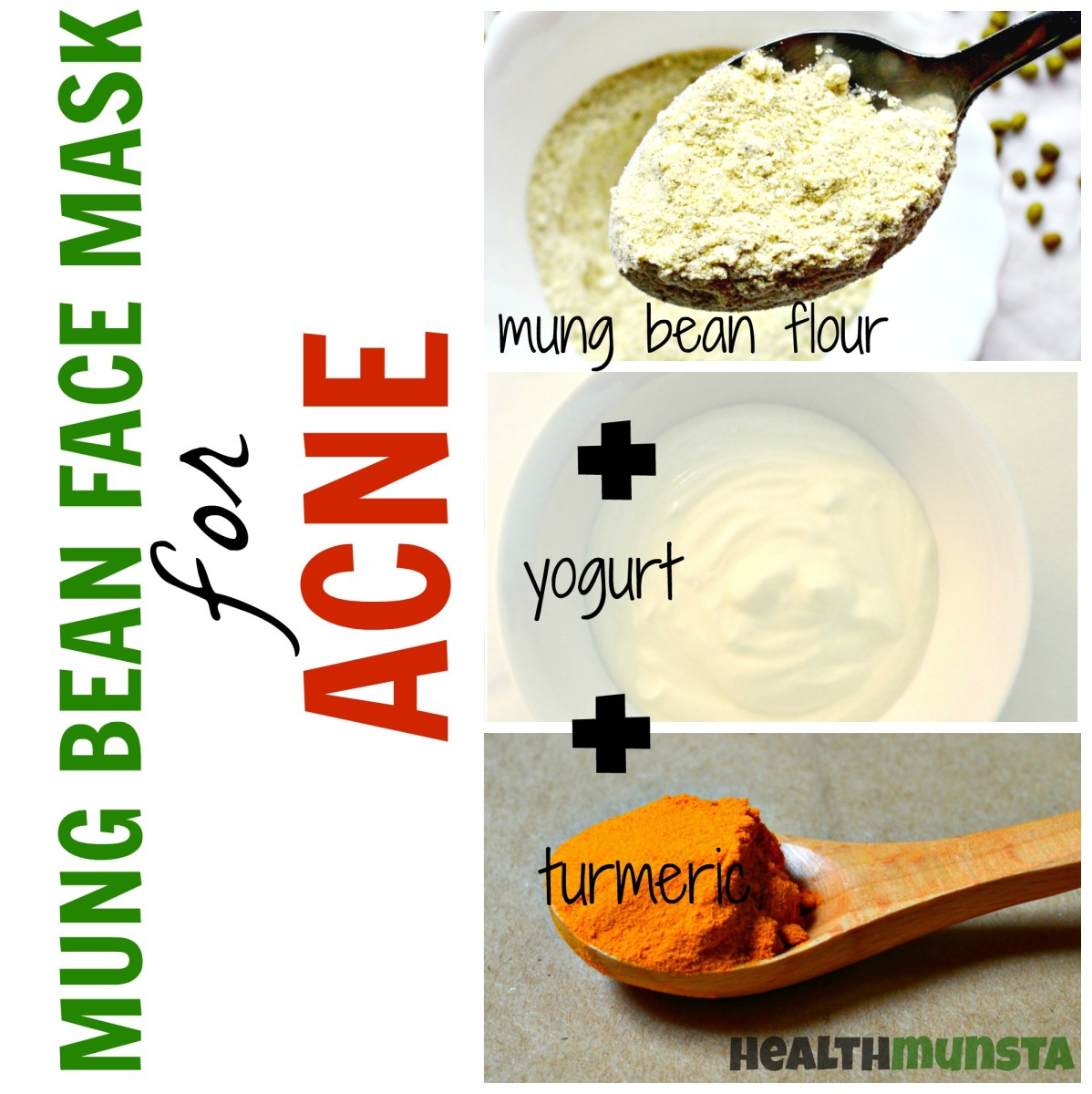 With antibacterial & anti-inflammatory ingredients, this mung bean face mask will soothe & heal irritated acne